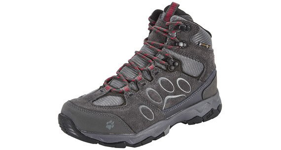 Jack Wolfskin MTN Attack 5 Hiking Shoes Women Texapore Mid hibiscus red